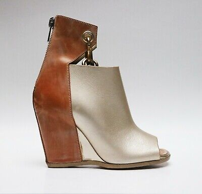 Rick Owens PEEP-TOE CHAIN BOOTIES leather NEW