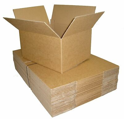 25 x Smal Parcel Postal Mailing Brown Cardboard Boxes 12 x 9 x 6 - Free Delivery