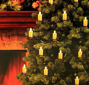 Set of 20 Luminara LED Christmas Tree Candles Strand ...