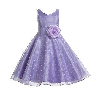 - Organza Polka Dot Flower Girl Dresses Birthday Girl Dresses Communion Dress New