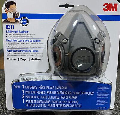 3M Paint Project Respirator Medium 6211 Expedited 1-3 Days EXP 05/22