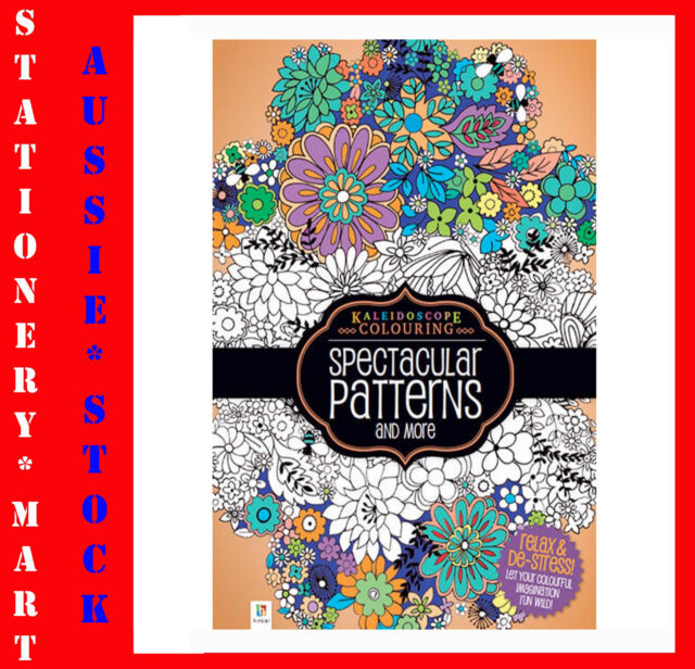 HINKLER KALEIDOSCOPE◉ADULT COLOURING BOOK◉SPECTACULAR PATTERNS◉96 PAGES◉A4 SIZE