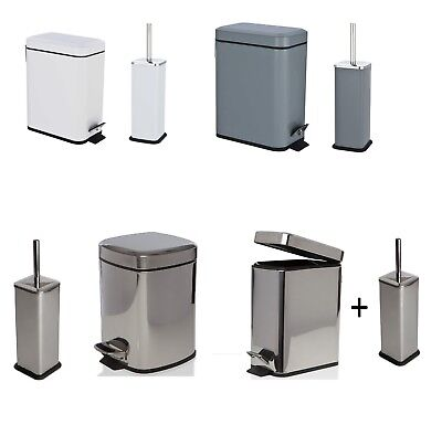 6L 5L Square Stainless Steel Kitchen Rubbish Waste Dust Pedal Bin & Toilet (Steel Kitchen Pedal Bin)