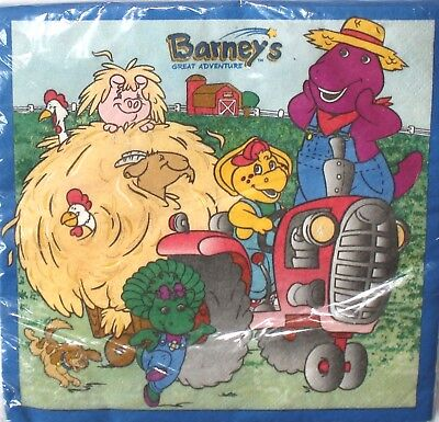 Barney Great Adventure Dessert Lunch Birthday Napkins Party Supplies  - Barney Birthday Party Supplies