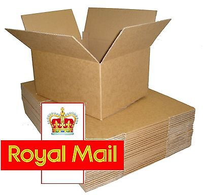 500 Postal Cardboard Boxes 13.5x9.5x5.5 SW ROYAL MAIL SMALL PARCEL 350x250x160mm