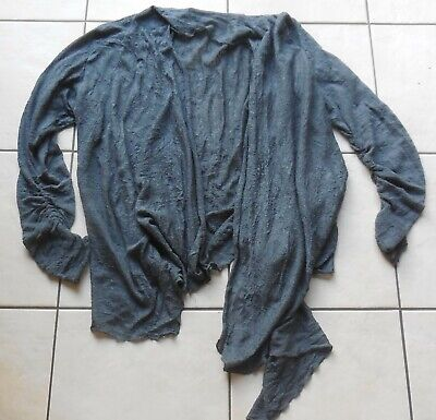 Gilet tissus froissé gris XL