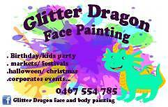 Glitter Dragon Face Painting Perth Perth City Area Preview