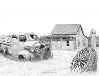 Old Homestead by Bernie Brown