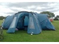 Vango Tigris 800 8 man tent with extension tunnel