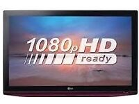 LG 37 INCH FULL HD 1080P TV, FREEVIEW, REMOTE, HDMI,SCART,PC. NO STAND - BARGAIN.