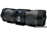 JVC RV-NB52 CD Portable Boomblaster with Integrated iPod Dock and Twin Subwoofer - Black