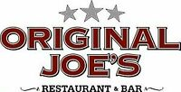 Original Joe's St. Vital Hiring Line and Prep Cooks
