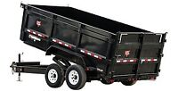 7 ton Dump trailer for rent $100.00 a day