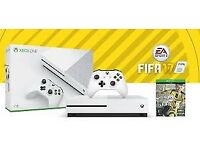 NEW X-BOX ONE S, BRAND NEW, 500GB/GO, 4K, READY INSTALLED FIFA 2017
