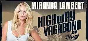 2 Tickets Miranda Lambert Tuesday, October 3 Northlands