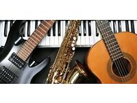 Drums, Bass Guitar, Guitar and Piano Lessons From 300 Experienced Teachers Flute, Saxophone, Singing