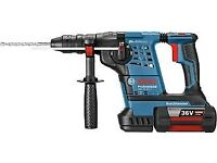 NEW BOSCH GBH 36 VF-LI PLUS 36V SDS HAMMER DRILL WITH 2X 4.0AH LI-ION BATTERIES