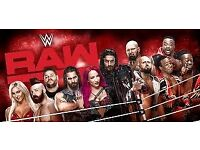 WWE Raw Tickets 2 or 4 BEST SEATS Blk C row F Manchester Arena Monday 6th November £350 a pair