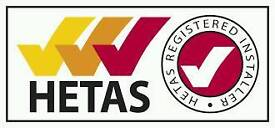 MULTI FUEL AND WOOD BURNING STOVE INSTALLATION FITTING HETAS REGISTERED
