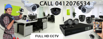 6 Full HD 1080P CCTV Security Camera Package supply and install
