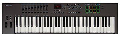 Nektar Impact Lx61  Usb Midi 61Key Midi Controller Keyboard   Software Free Ship