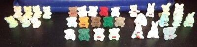 Miniature Bear , Bunnies, Hippo, Elephant, Pig  Fuzzy Animal Collection 32 Total