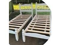 2x single shorty beds with mattress