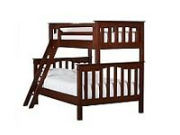 Solid wood triple bunk bed for sale by Pottery Barn