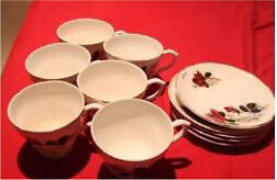 Antiques misc (beautiful tea cups to crystal bowls)