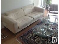 free 2x suede cream sofas and puffy