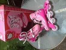 Children's Hello Kitty Inline Skates - adustable from size 13 to size 3
