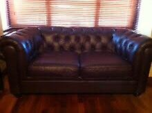 Great Offer £495 Brown Leather 2-seater Sofa - Belfast