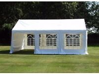 6M X 4M MARQUEE. £280. ONLY USED ONCE. EXCELLENT CONDITION.