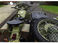 URAL WITH SIDECAR AND TRAILER AMMUNITION