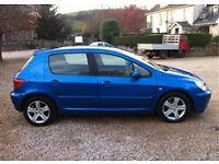 Peugeot 307 Diesel S HDi 110, Blue, Drives