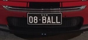 Custom number plate 08BALL St Johns Park Fairfield Area Preview