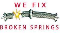 AJ Garage Doors / Broken Springs , cables call today