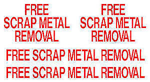 FREE PICK UP AND REMOVAL OF SCRAP/STEEL/APPLIANCES/EQUIPMENT