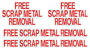 FREE PICK UP/REMOVAL of Scrap Metal /Steel /Equipment/Appliances