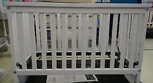 White Storkcraft crib and white Graco high chair - $120