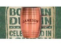 Jameson Irish Whiskey Mini Copper Cup Shot Barrel