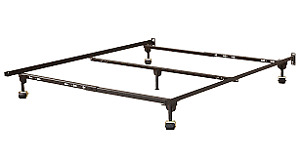 Used adjustable  metal bed frame for headboard