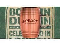 Jameson Irish Whiskey Mini Copper Cup Shot Barrel