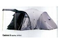 """LARGE FAMILY TENT """"CANTERA 6"""" PERFECT CONDITION STORED INDOORS"""