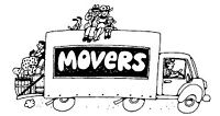 CUBE TRUCK AND 2 MOVERS FLAT RATE OR HOURLY RATE