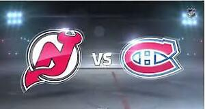 5 x BILLETS TICKETS GRIS 309 NEW JERSEY CANADIENS 2 FÉVRIER 14h