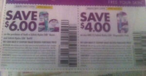 20 of each: Save $6 and Save $4 Schick Hydro Silk Razor coupons 40 total
