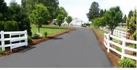 Complete driveway/parking lot sealing and repairs, line marking
