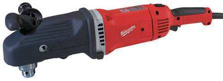 MILWAUKEE 1680-21 Right Angle Drill,1/2 In,450/1750 RPM