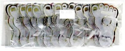 Wholesale Lot Of 12 Toe Rings Carded For Resale J53